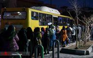تصاویر: کرونا در صف اتوبوس