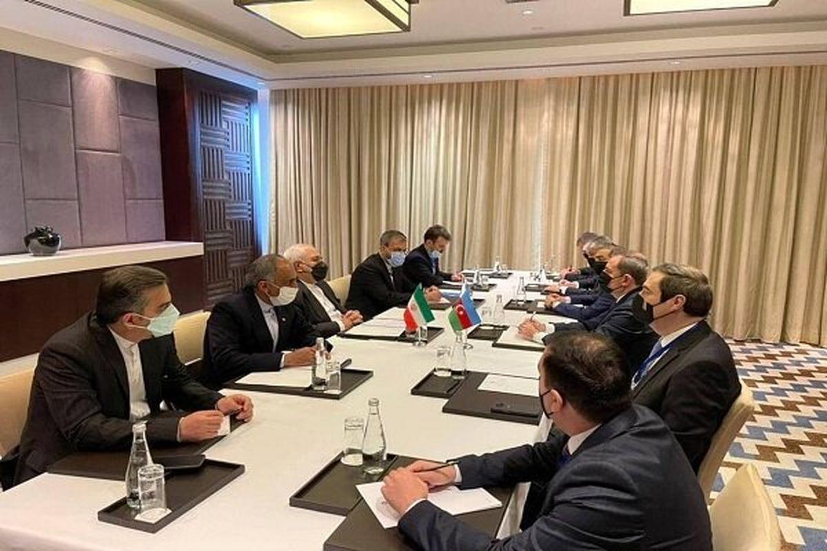 دیدار ظریف با همتای آذربایجانی