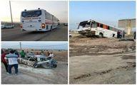 عکس: تصادف مرگبار اتوبوس و پژو پارس در آزاد راه قزوین