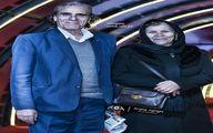 رضا ناجی و همسرش +عکس
