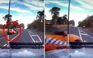 دور زدن راننده در اتوبان حادثه ساز شد! +فیلم
