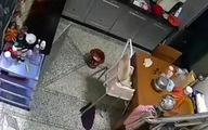 فیلم: لحظه انفجار گاز در آشپزخانه