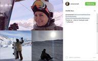 بازیگر زن ایرانی در پیست اسکی +عکس