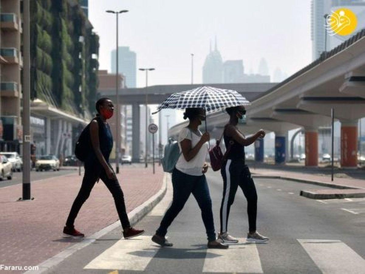 تصاویر: راهکار مردم دبی برای فرار از گرما