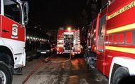 آتش سوزی خودروی پژو ۲۰۶ در پارکینگ