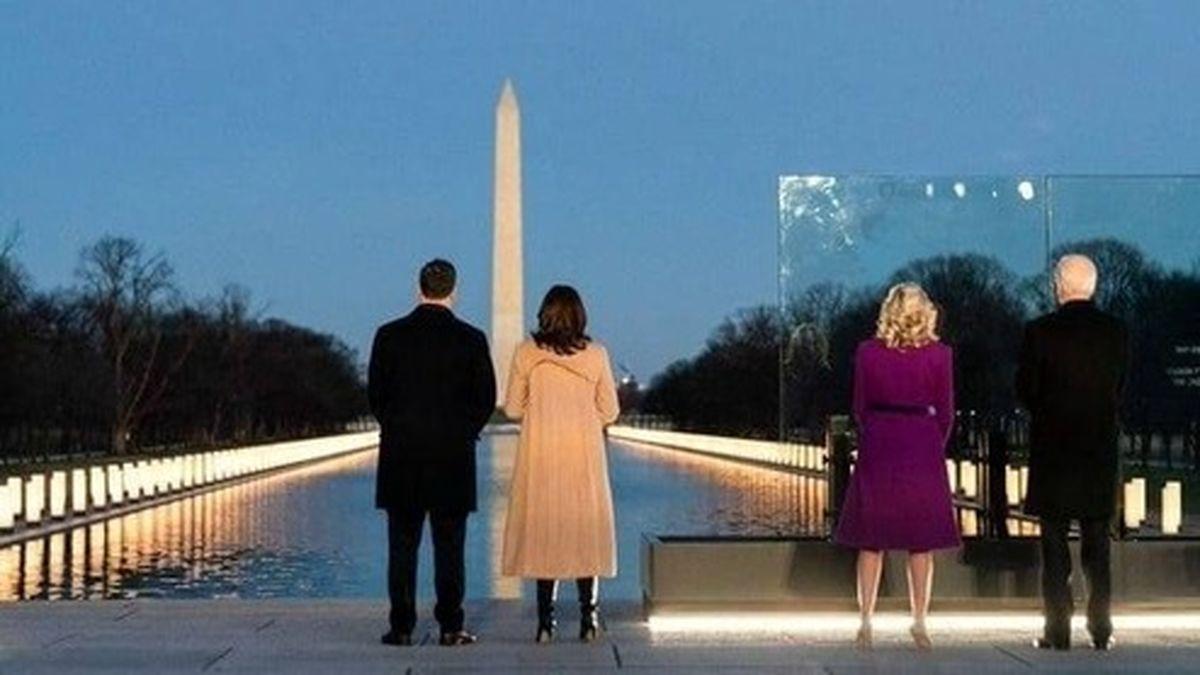 تصویر جالبی از حضور بایدن در واشنگتن