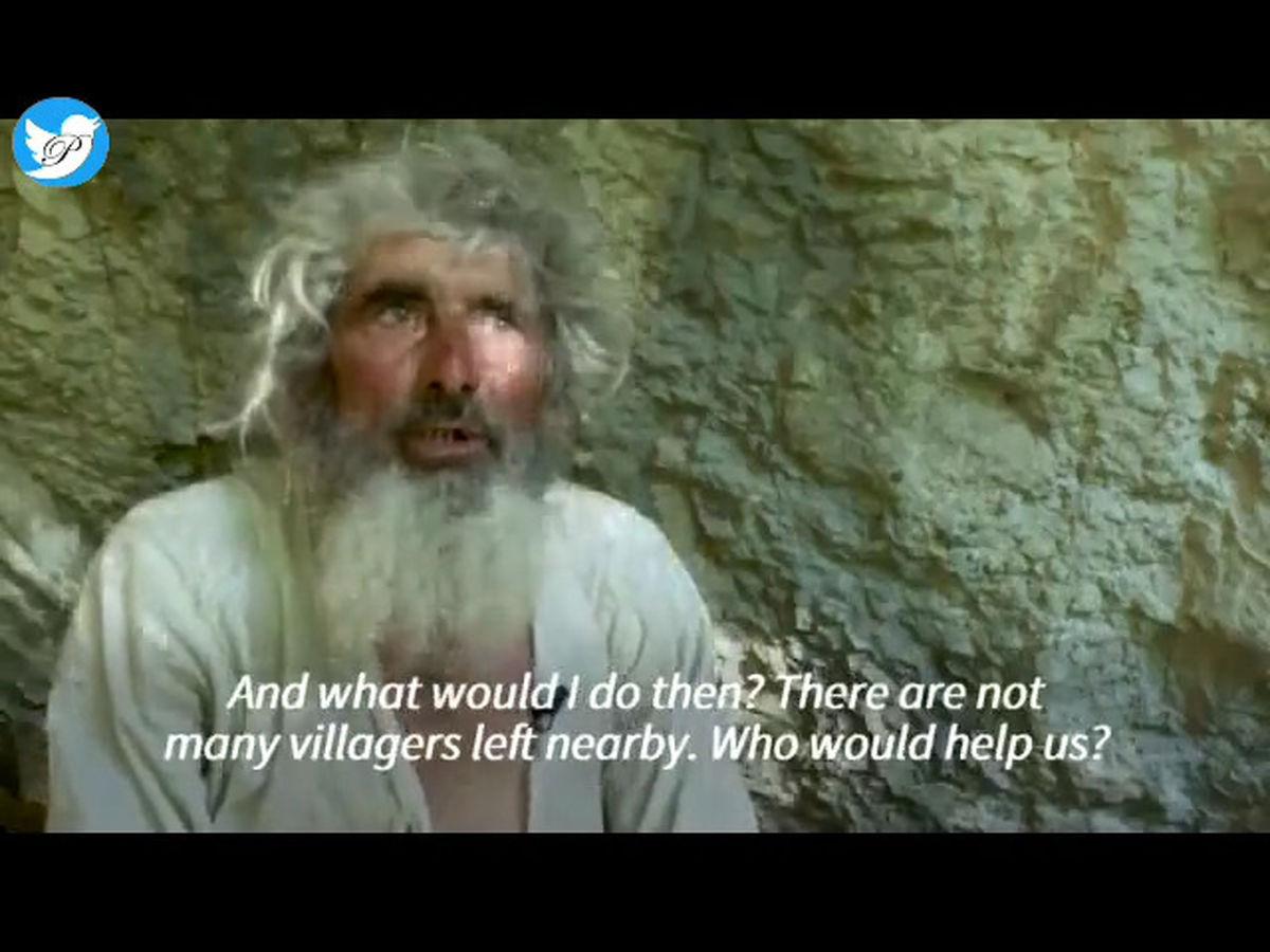 مرد غارنشین  از ترس همه گیری واکسن کرونا زد! +فیلم