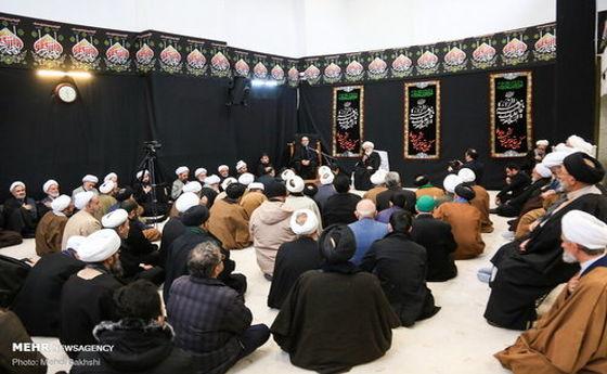 تصاویر: عزاداری سالروز شهادت حضرت فاطمه(س) در بیوت مراجع عظام