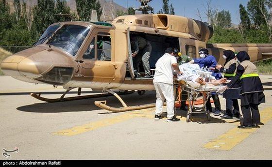 تصاویر: عملیات اورژانس هوایی همدان