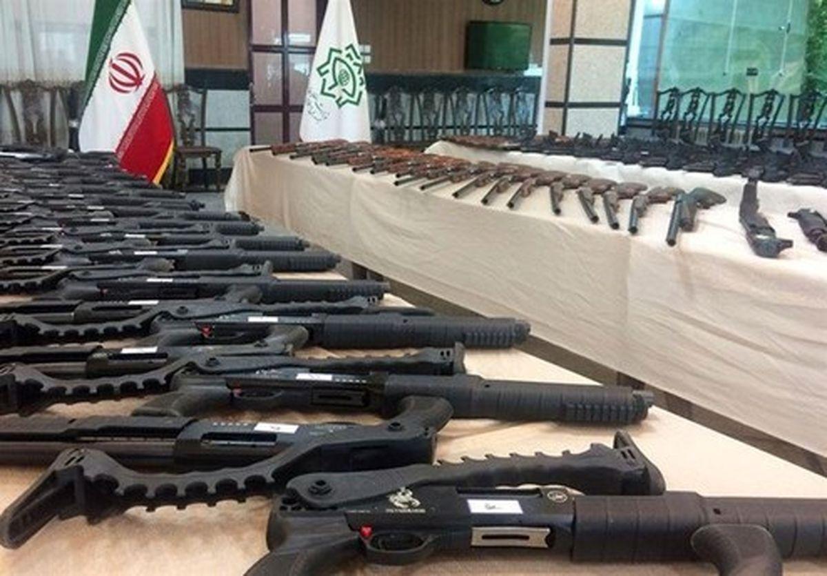 کشف ۱۴۴ قبضه سلاح غیرمجاز در کردستان