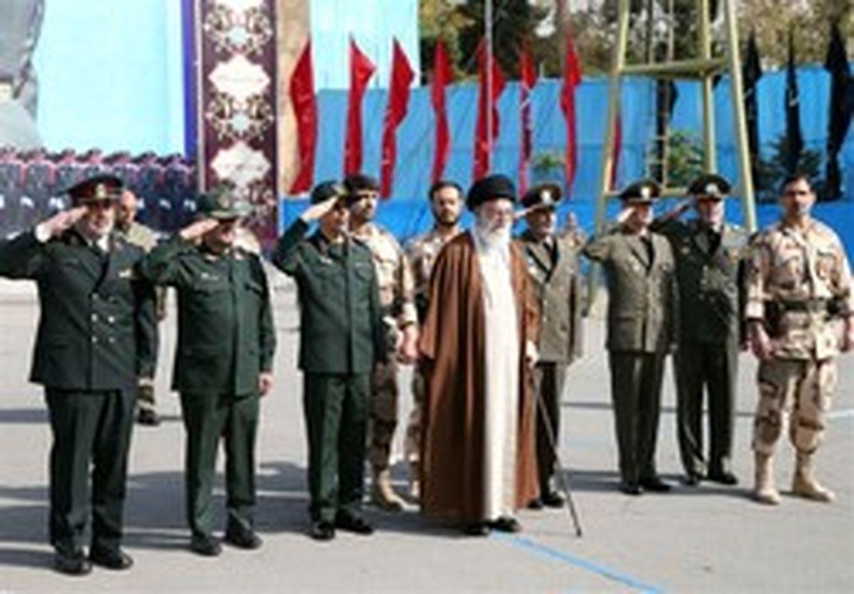 حضور رهبر انقلاب در مراسم دانشآموختگی دانشجویان ارتش