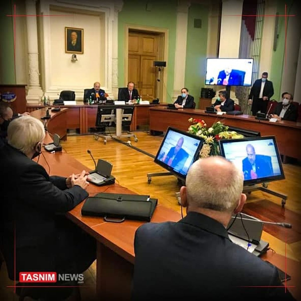 سخنرانی قالیباف در آکادمی دیپلماتیک روسیه +عکس