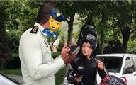 عکس: جریمه قهرمان موتورسواری زنان ایران توسط پلیس!