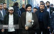 عکس: فرزند رهبر انقلاب در ختم آیتالله شاهرودی در مسجد ارگ