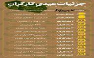 جزئیات عیدی کارگران