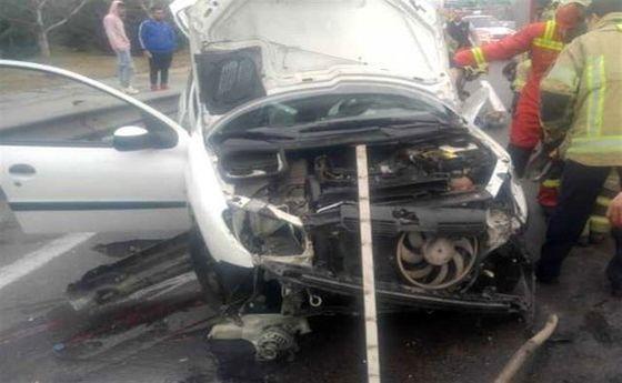 تصادف در محور کرمانشاه ـ کامیاران با ۵ نفر کشته
