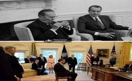 تفاوت معنی دار رفتار دو رهبر در برابر آمریکا +عکس