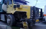 مچاله شدن وحشتناکL۹۰ در برخورد مرگبار با کامیون+عکس