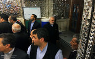 تصاویر:ظریف و تیم هستهای درحرم رضوی