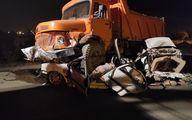 تصادف مرگبار راننده لیفان با کامیون در اتوبان بعثت