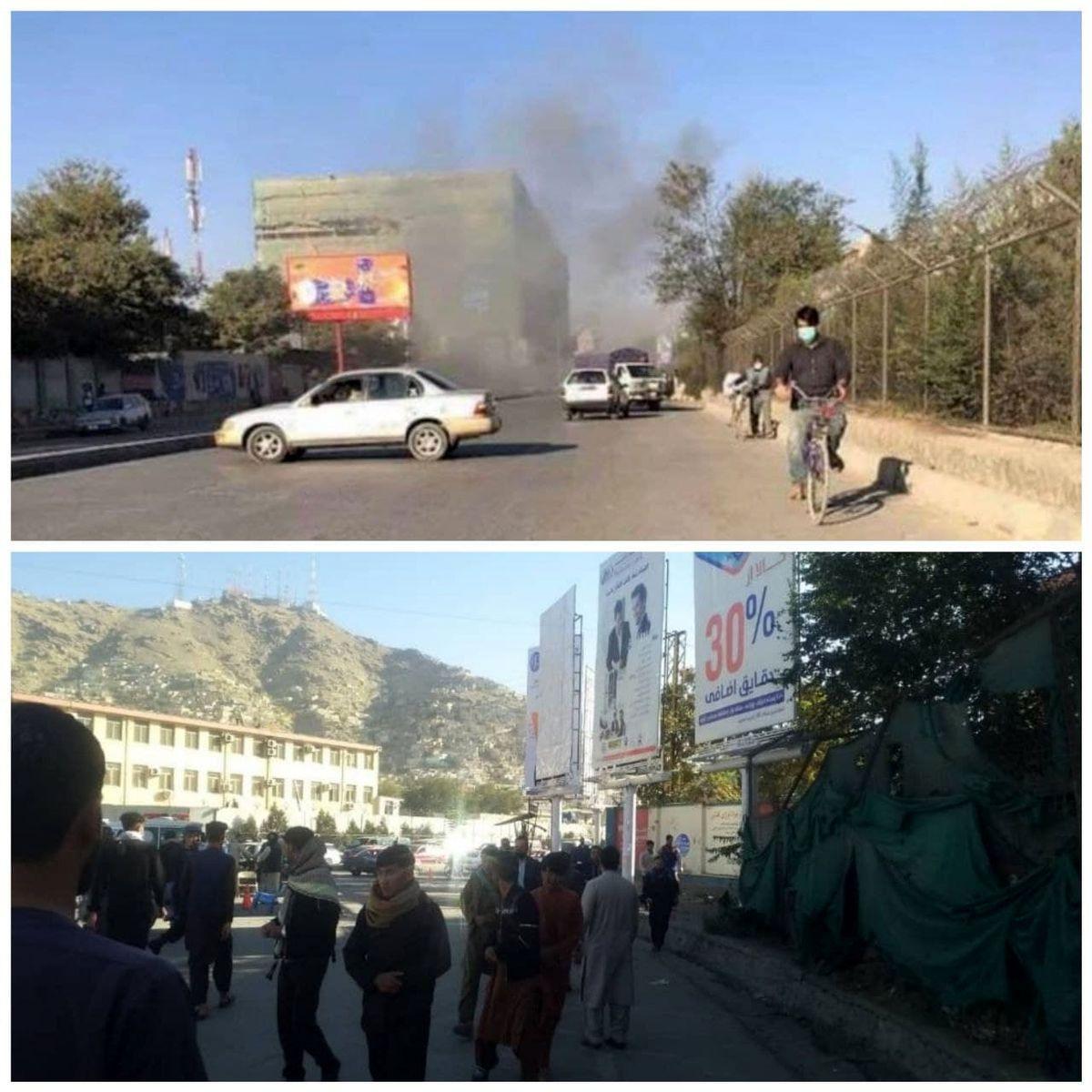 انفجار در کابل/ نخستین تصاویر از محل حادثه