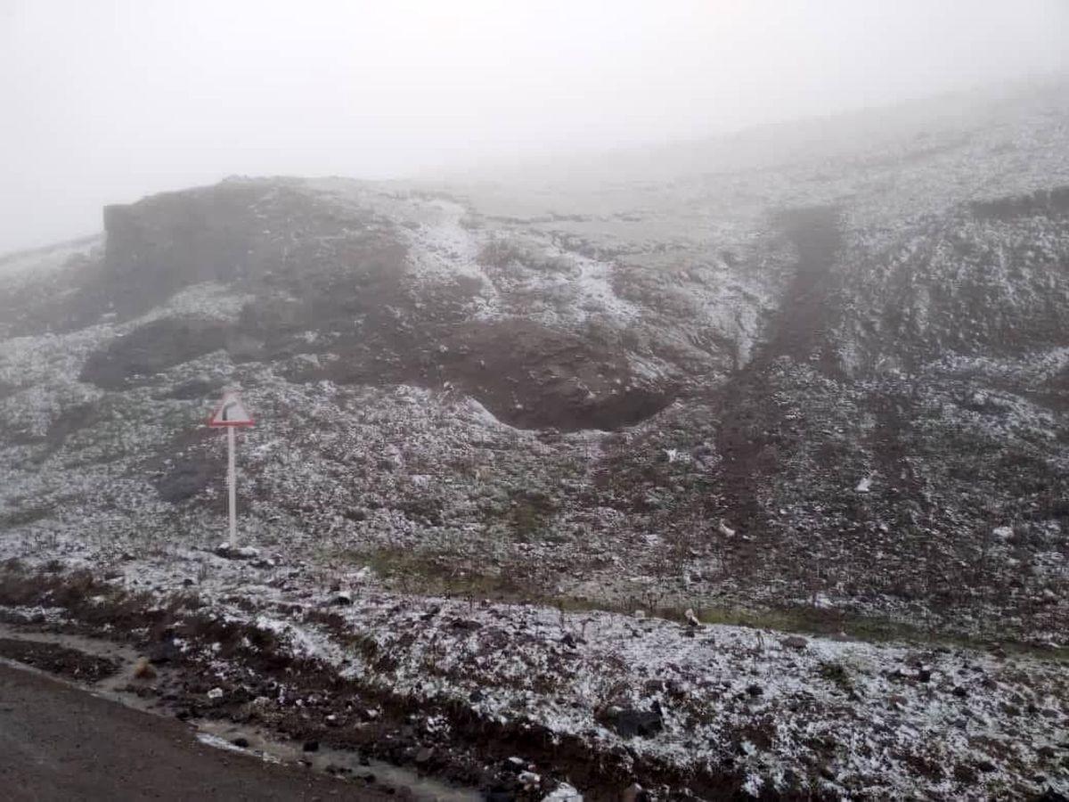 عکس: بارش برف پاییزی درارتفاعات اسالم گیلان
