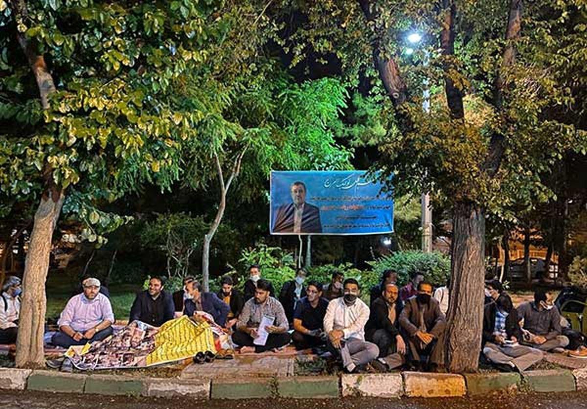 تجمع حامیان احمدینژاد جلوی وزارت کشور
