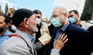 درد دل مردم با رئیس مجلس +عکس