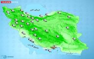 کاهش دما در سواحل خزر