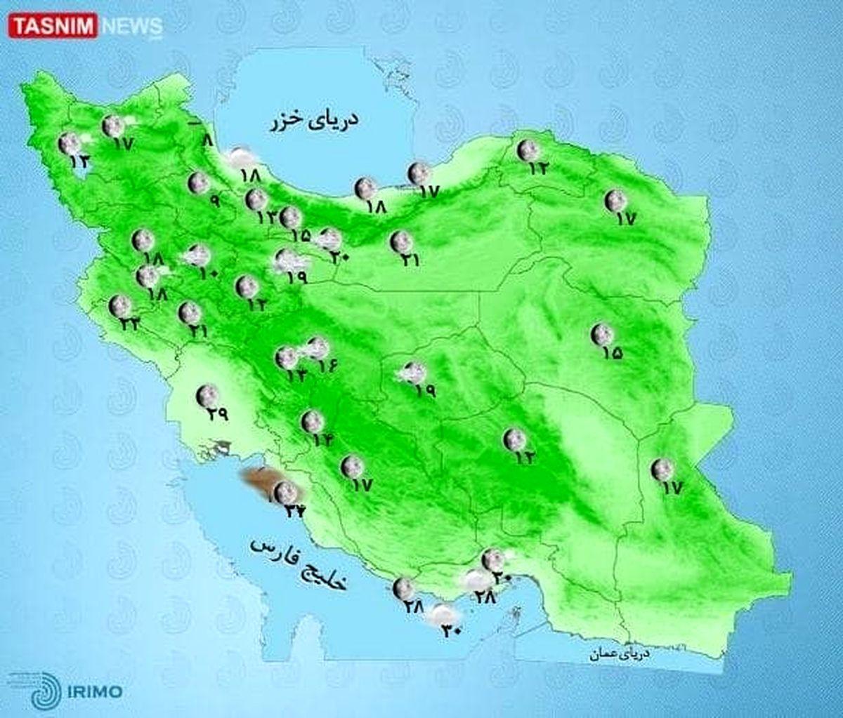 تهرانی ها منتظر  رگبار باران و رعد و برق باشید