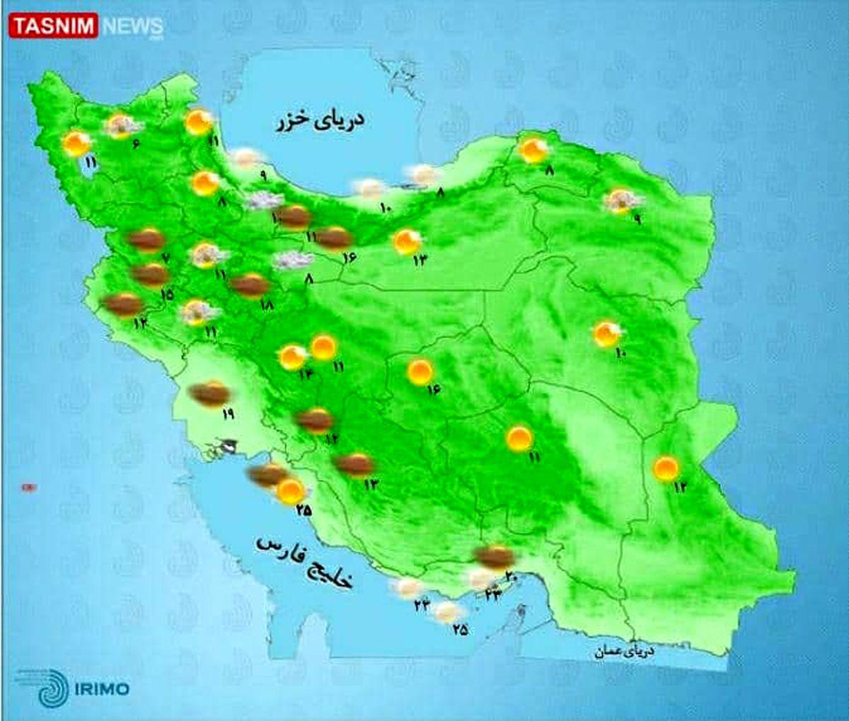 تهران در روز طبیعت بارانی میشود