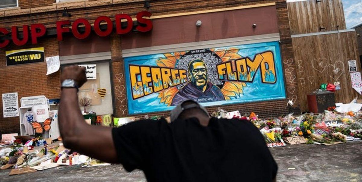 تیراندازی مرگبار در محل قتل «جورج فلوید» +عکس