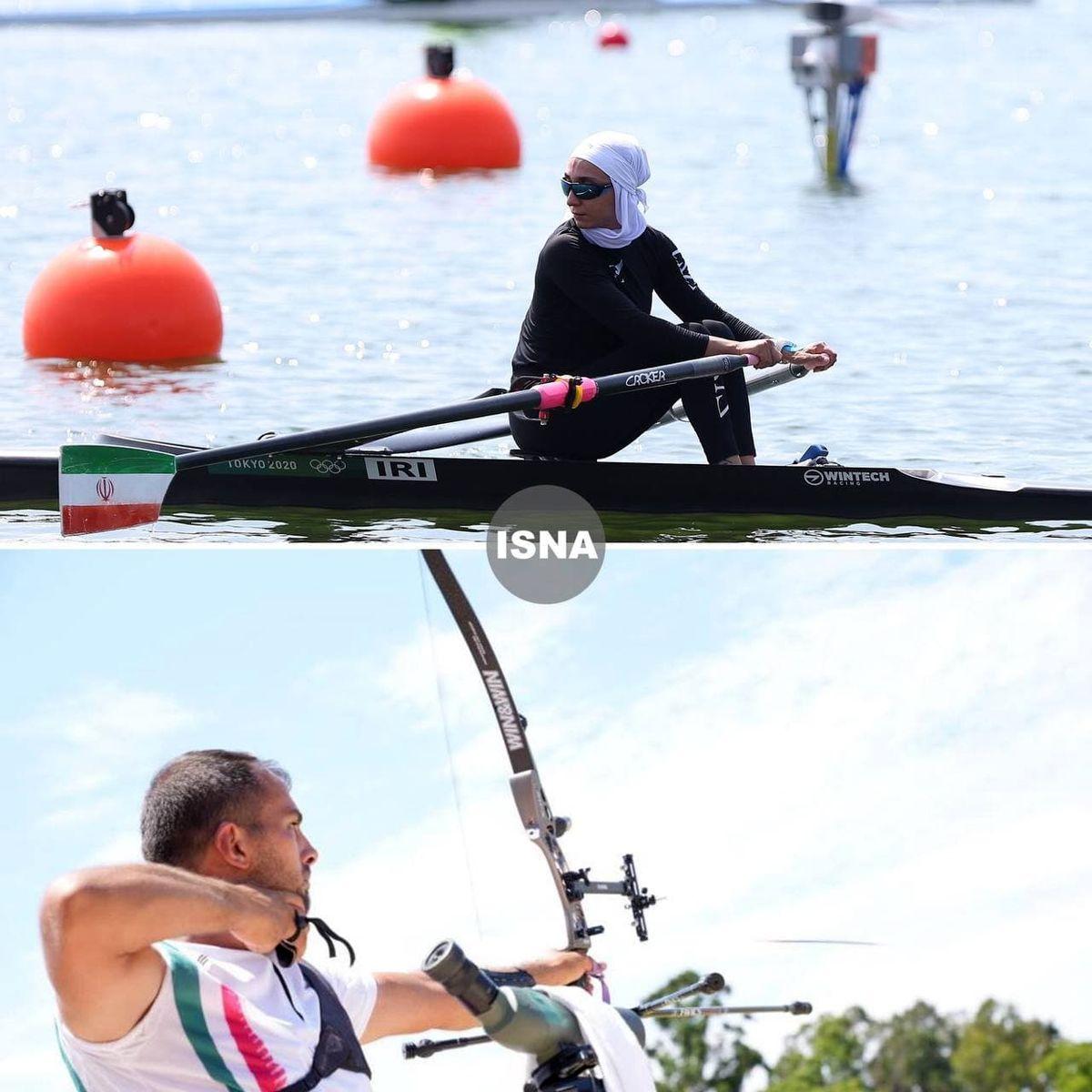 تصاویری از رقابت نازنین ملایی و میلاد وزیری در المپیک توکیو