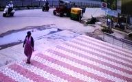 حادثهای عجیب در خیابان که فیلمهای هندی را توجیه کرد +فیلم