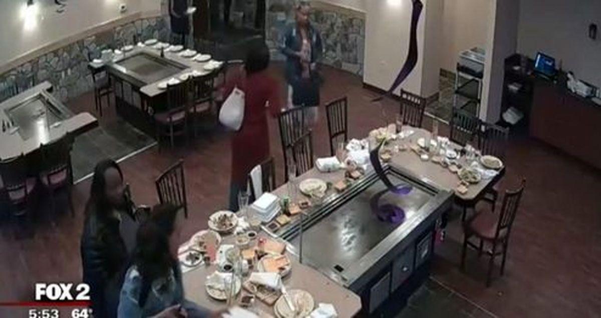 فرار دزدکی مشتریان پس از صرف غذا در رستوران! +فیلم