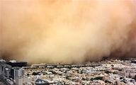 فیلم: طوفان خاک در عربستان از دید هواپیما