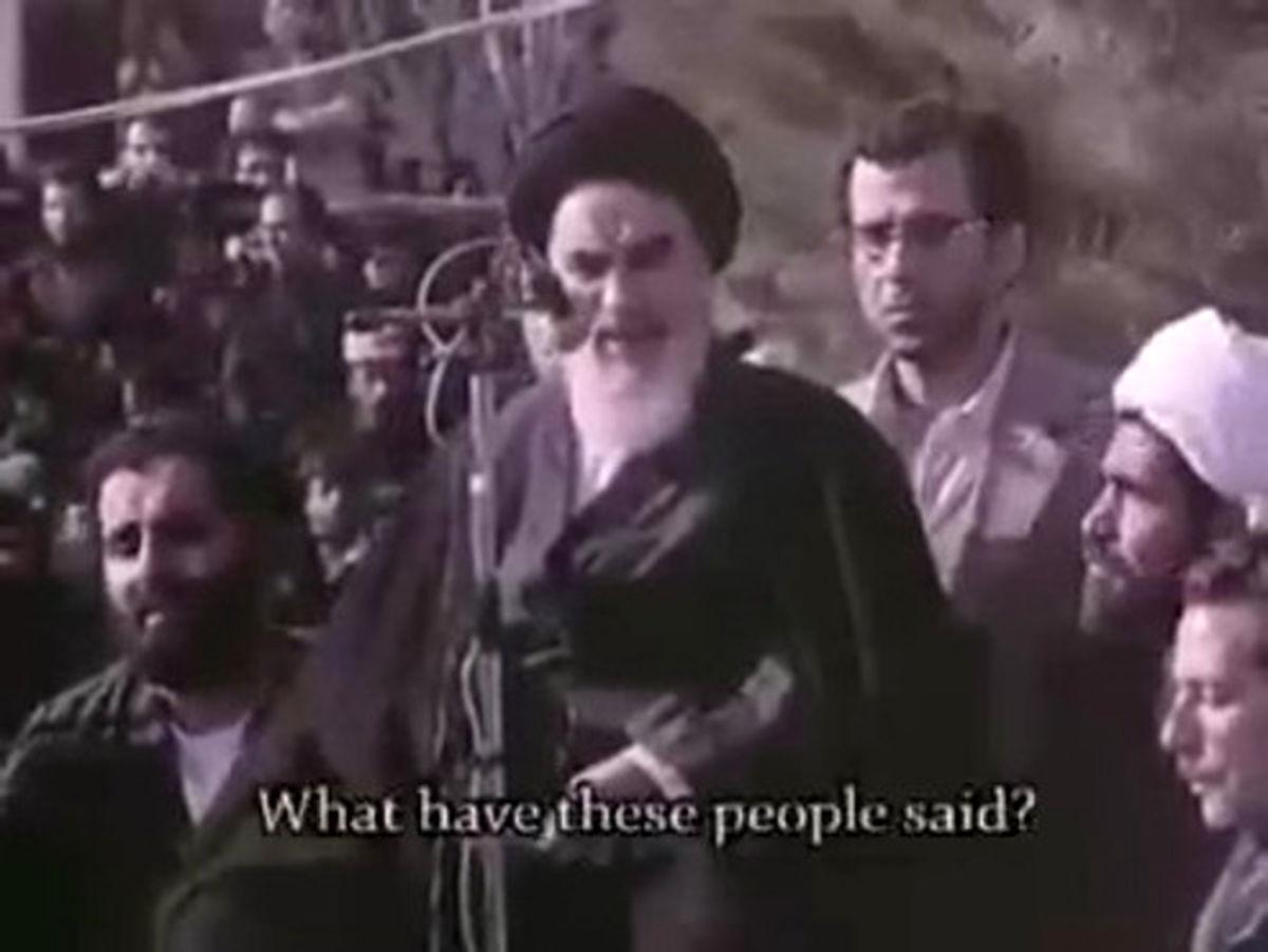 فیلم: سخنان تاریخی امام خمينی در بدو ورود به ایران