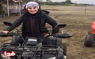 بازیگر زن ایرانی در حال موتور سواری! +عکس