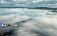 فیلم: پل «بسفر» استانبول در محاصره مه غلیظ