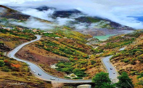 عکس: زیباییهای جاده چالوس در فصل پائیز