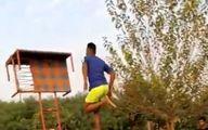 پرش حیرت انگیز مرد هندی از روی مانع پربیننده شد! +فیلم