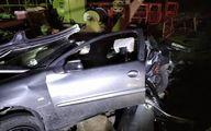 تصادف مرگبار خودرو ٢٠۶ در بزرگراه آزادگان +عکس