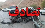 تصادف خودروی ۴۰۵ در فیروزآباد/ ۵ نفر درآتش سوختند