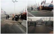 عکس: واژگونی خودرو در تهرانسر