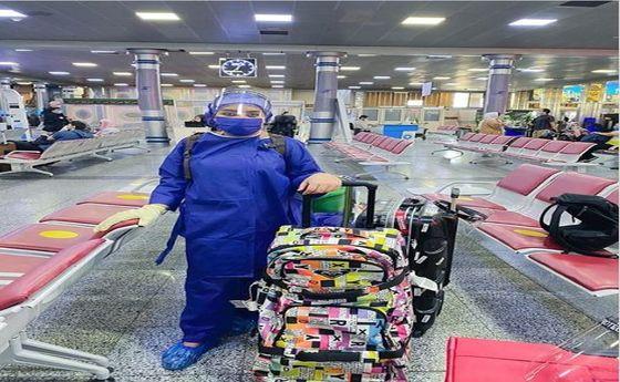 عکس:پوشش عجیب دختر قاسم خانی در فرودگاه مهرآباد!