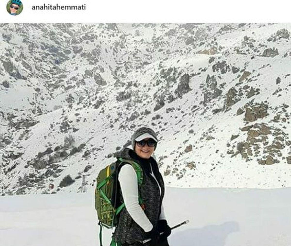 مادر کوهنورد بازیگر زن معروف ایرانی +عکس