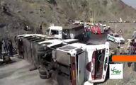 تصادف مرگبار و خونین اتوبوس با کامیون در رودان +فیلم