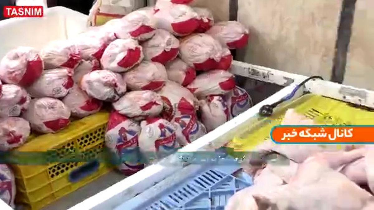 گشت تعزیرات در بازار مرغ
