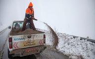 برف و باران در جادههای 15 استان