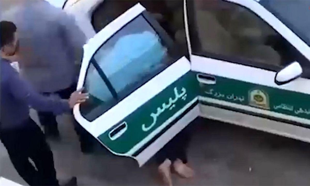 فیلم لحظه کتک کاری پلیس با جانباز تهرانی / خودزنی در صحنه ! + جزئیات